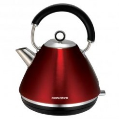 Morphy Richards ACCENTS Rood - Waterkoker Pyramide, 2200 Watt