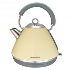 Morphy Richards ACCENTS creme - Waterkoker Pyramide, 2200 Watt